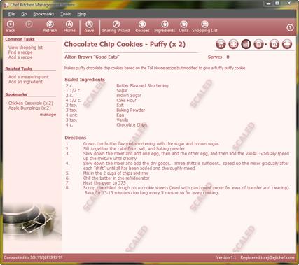 Scaled Recipe