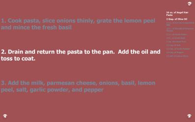 Chef Recipe Slideshow
