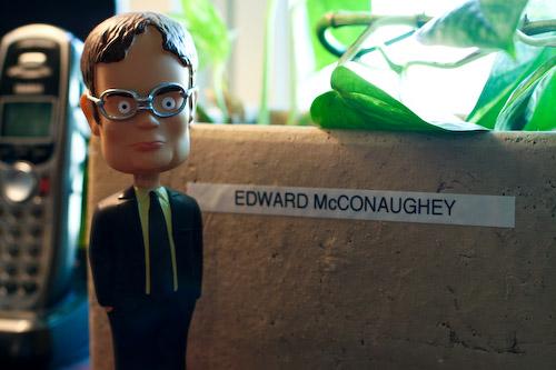 Dwight Shrewt meet Edward McConaughey