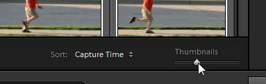 Adjusting thumbnail size.